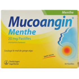 Mucoangin Menthe Pastilles a Sucer 30x20mg
