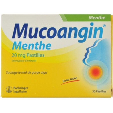 Mucoangin Menthe 30 Pastilles