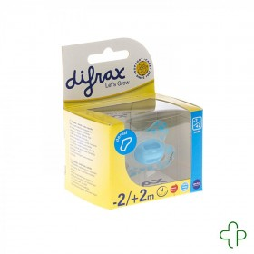 Difrax Sucette Newborn Dental Sil Boy  -2/2m 1 796