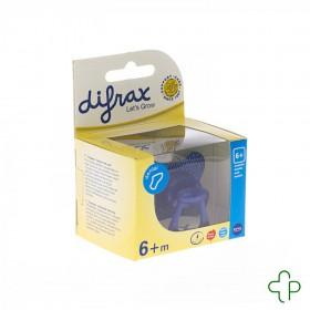 Difrax Sucette Silicone Dental+anneau Boy  +6m 800