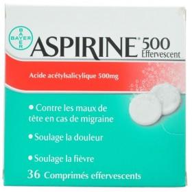 Aspirine 500 Mg Comprimés Eff 36