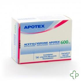 Acetylcysteine Apotex Comprimés Eff 14 X 600 Mg