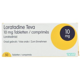 Loratadine Teva 10 Mg Comprimés 50 X 10 Mg