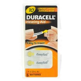 Duracell Easytab Pile Auditive Da10  6 Jaune