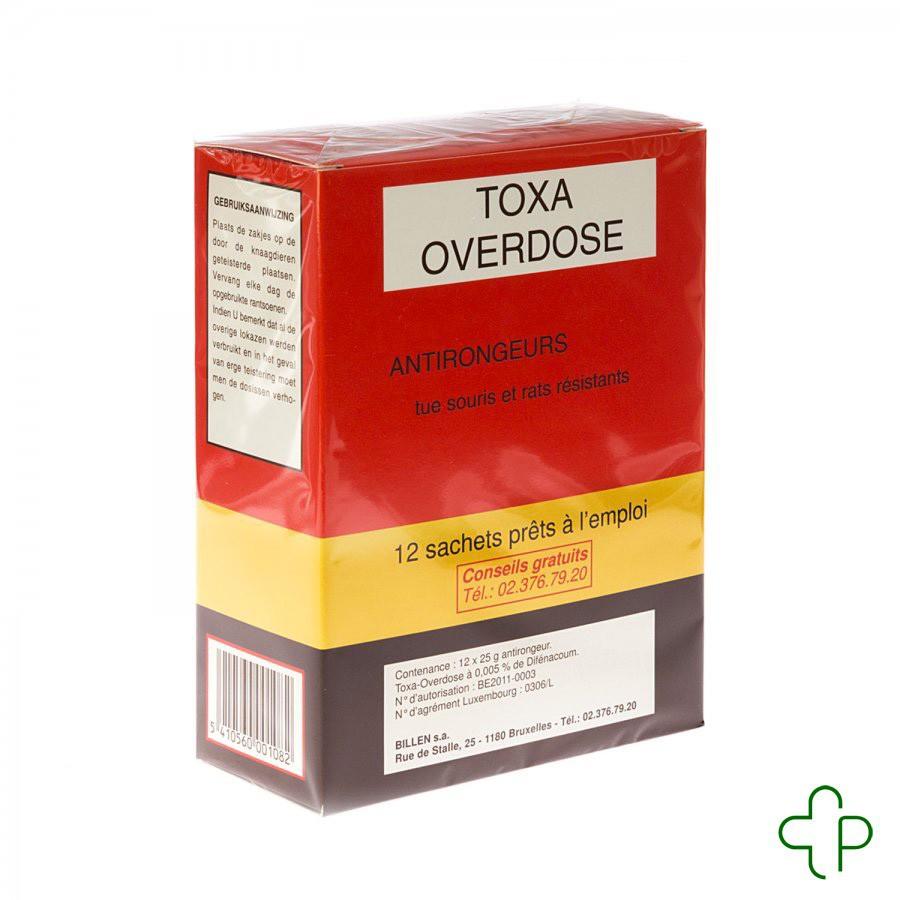 toxa overdose souricide 12 x 25 g acheter en ligne. Black Bedroom Furniture Sets. Home Design Ideas