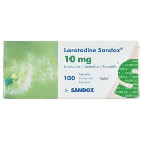 Loratadine Sandoz Comprimés 100 X 10 Mg