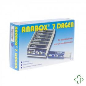 Anabox Pilbox Blauw 7 Dagen