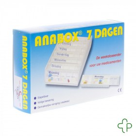 Anabox Pilbox Wit 7 Dagen