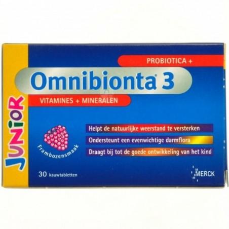 Omnibionta-3 Junior Framboise Comprimés a Croquer 30