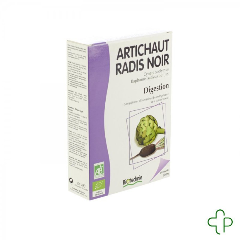 Artichaut-radis noir bio ampoules 20x10ml biotechnie