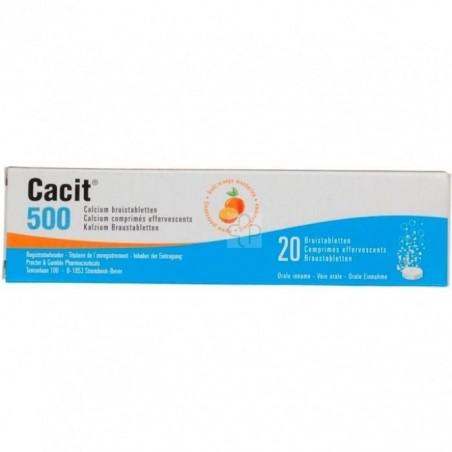 Cacit 500 20 Comprimes Effervescents