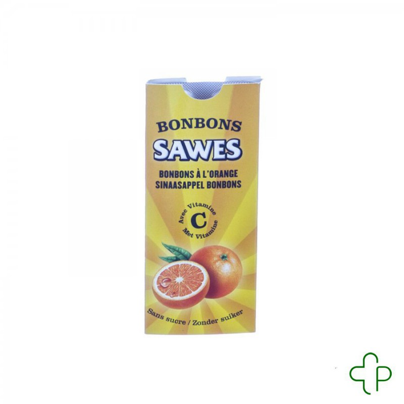 Sawes bonbon orange sans sucre blist 10
