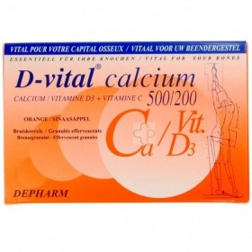 D-Vital Calcium 500/200 40 Sachets Orange