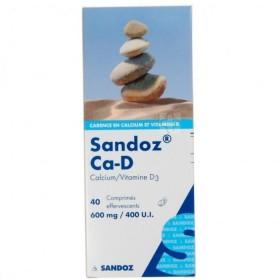Sandoz Ca-d 600 Mg/400ui 40 Comprimes Effervescents