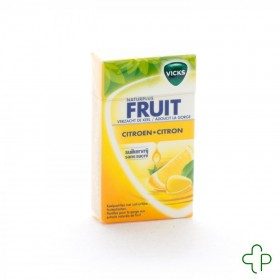 Vicks lemon+c sans sucre 40g box
