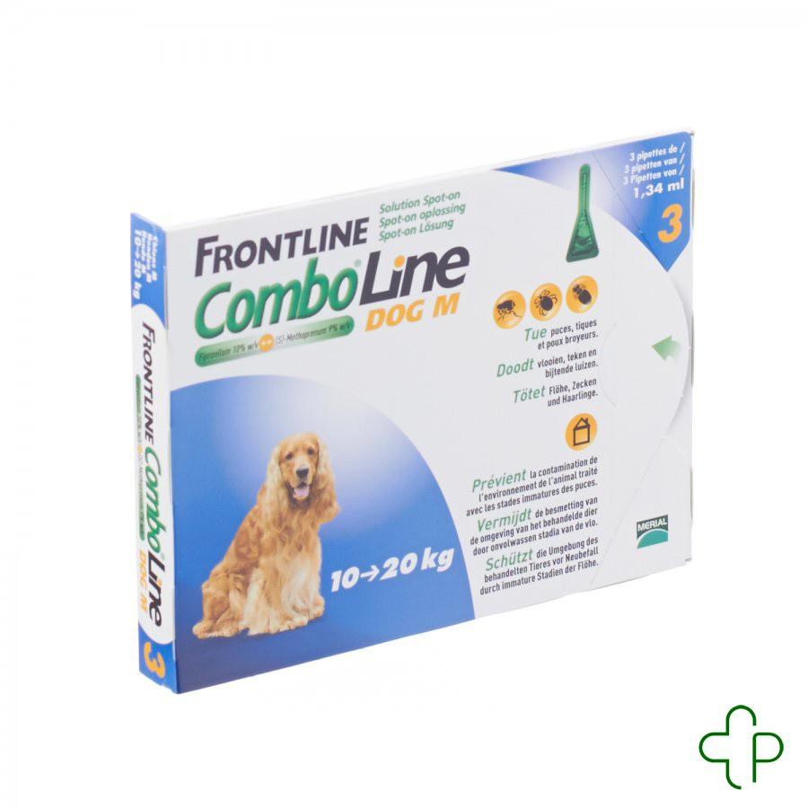 frontline comboline dog m 3x1 34ml. Black Bedroom Furniture Sets. Home Design Ideas