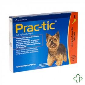 Prac-tic spot-on anti-puce-tiq.tr.petit chien pip.1x3