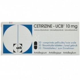 Cetirizine-ucb 10 Mg 20 Comprimes