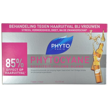Phytocyane Soin Anti-chute pour Femmes 12 Amp