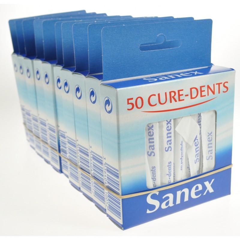 Cure Dents Sanex 10 boites, emballés séparéments