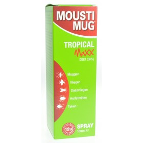 Moustimug Tropical Maxx 50% Deet Spray 100ml