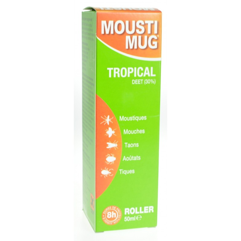 Moustimug Tropical 30% Deet Roller 50ml
