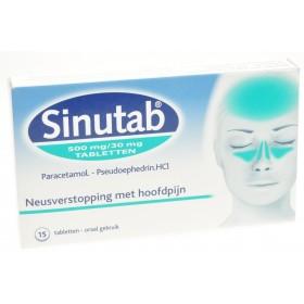Sinutab 500/30 Mg 15 Comprimés