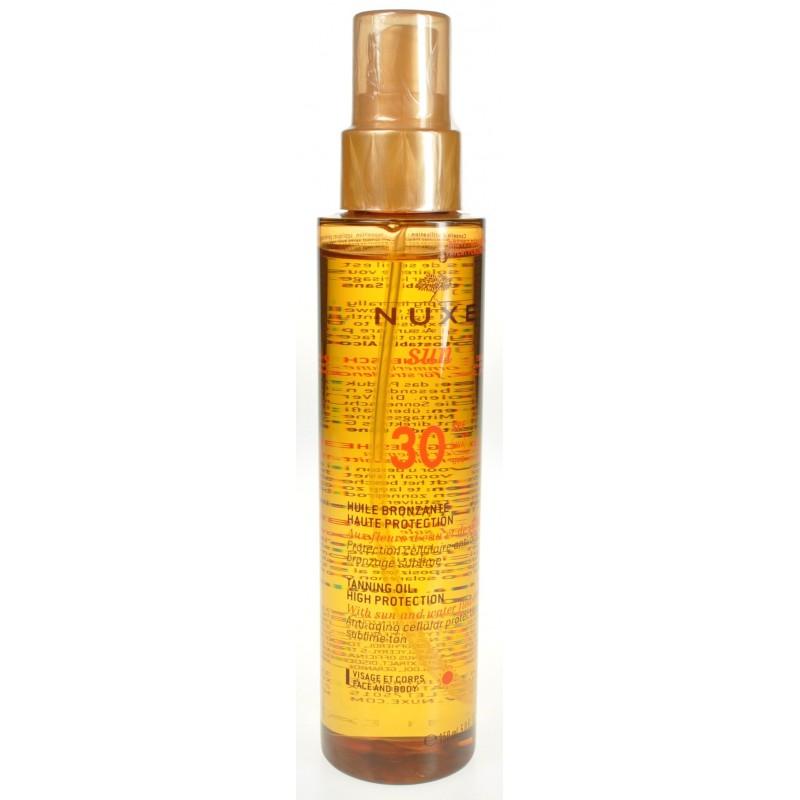 Nuxe sun huile bronzante visage corps ip30 150ml