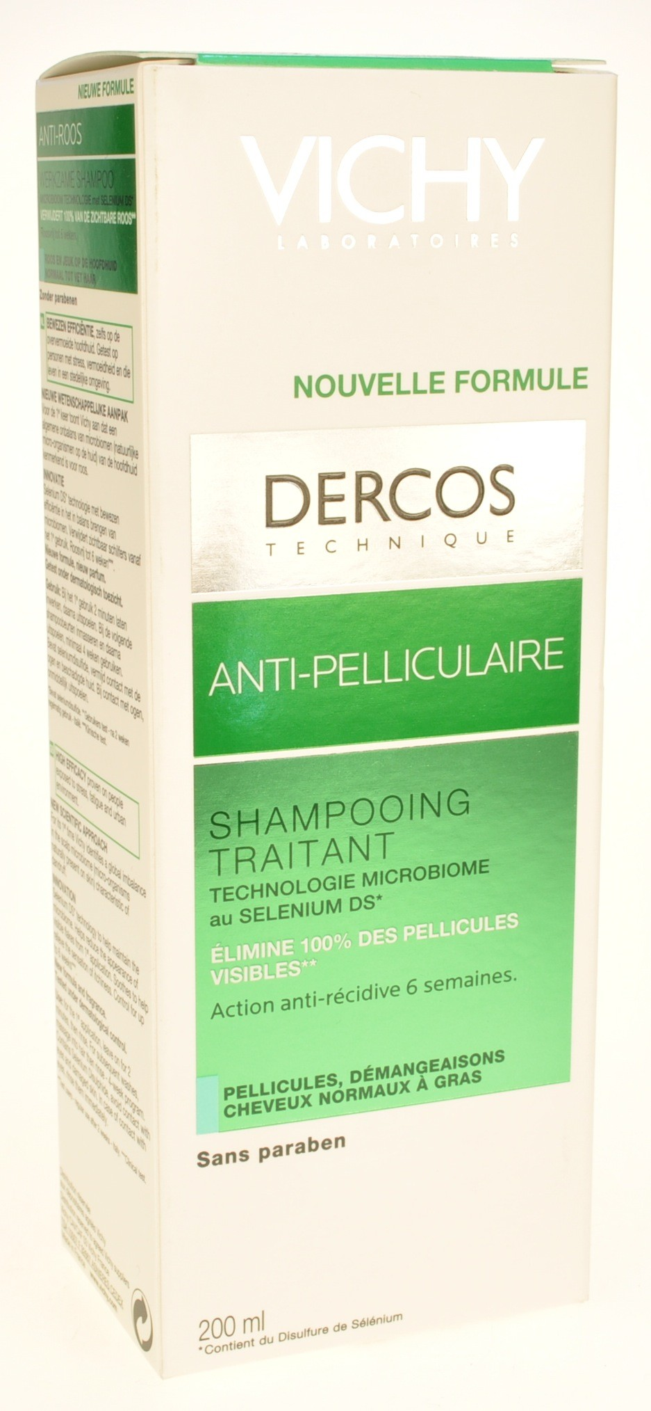 vichy dercos shampooing anti pelliculaire cheveux gras reno 200ml. Black Bedroom Furniture Sets. Home Design Ideas