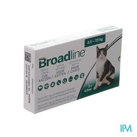 broadline spot-on chat 2,5kg-7,5kg 3x0,9ml