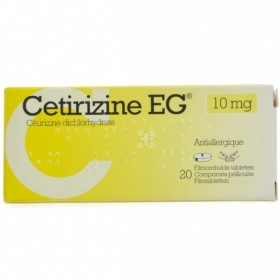 Cetirizine Eg Comp 20 X 10mg