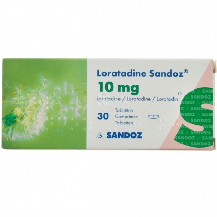 Loratadine Sandoz Tabl 30 X 10mg