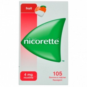 Nicorette Fruit Gomme Mach 105x4mg