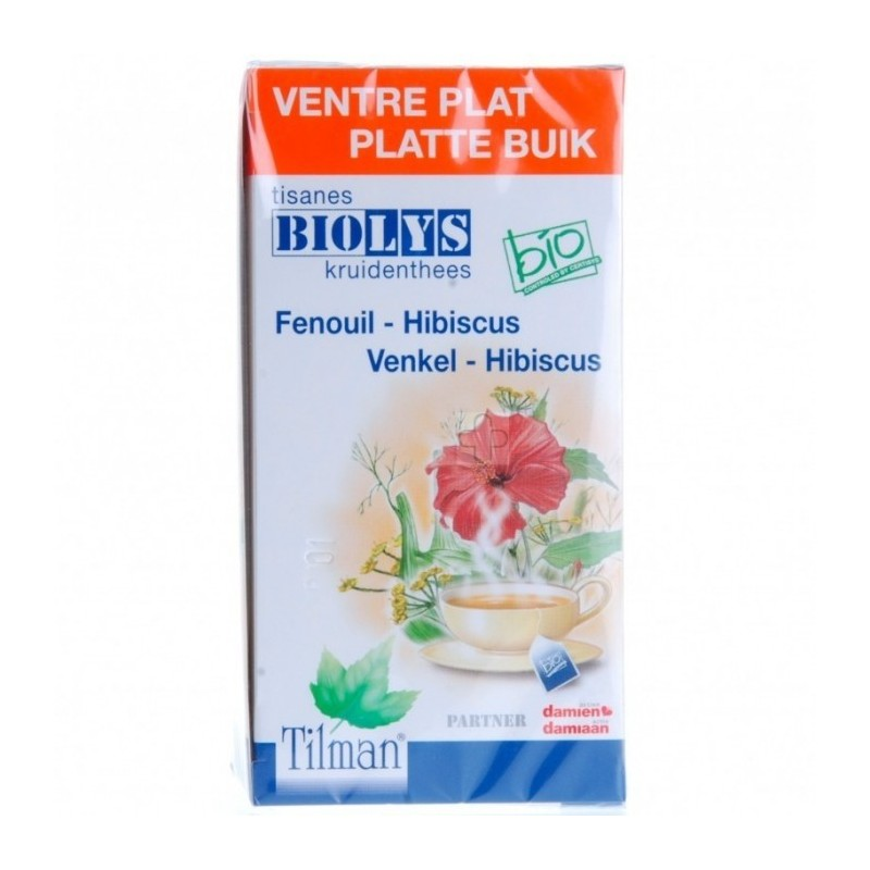 Biolys Fenouil-hibiscus Bio 20 Tea-bags