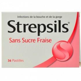 Strepsils Sans Sucre Fraise Pastilles a Sucer 36