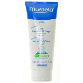 Mustela Bébé 2 En 1 Cheveux et Corps 200ml