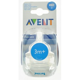 Avent Tetine Medium 3 Trous 2pces