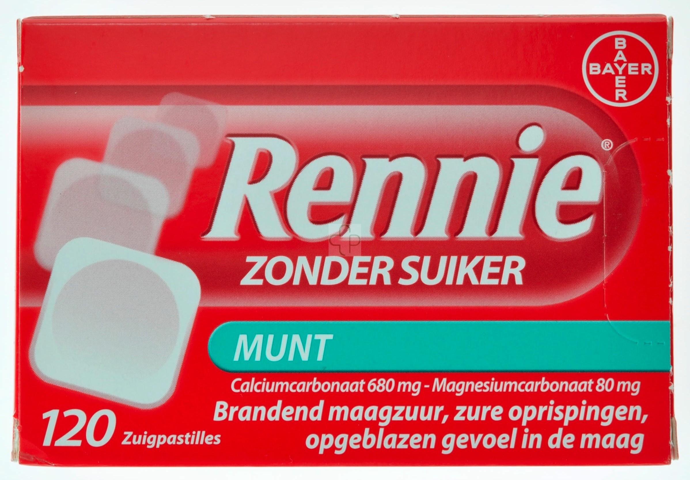 Rennie Zonder Suiker Pastilles 120 Online Kopen