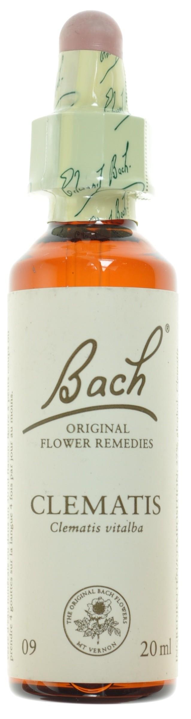 Fleurs de bach 09 clematis 20ml acheter en ligne for Acheter fleurs en ligne