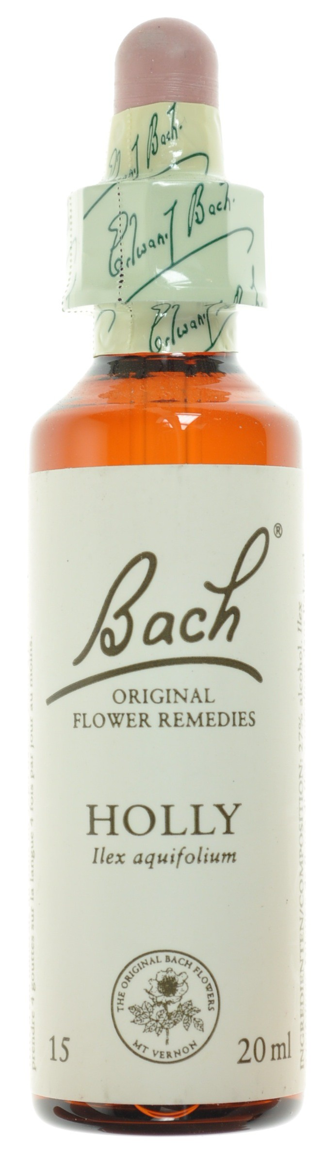 Fleurs de bach 15 holly 20ml acheter en ligne for Acheter fleurs en ligne