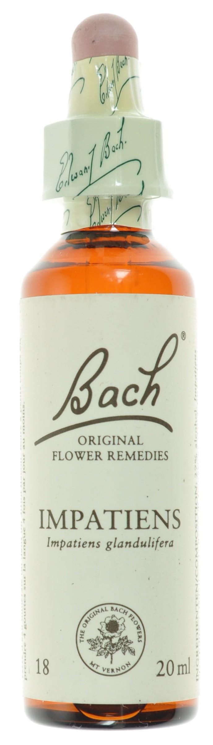 Fleurs de bach 18 impatiens 20ml acheter en ligne for Acheter fleurs en ligne