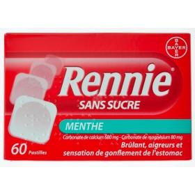 Rennie Sans Sucre Pastilles 60