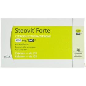 Steovit D3 1000mg/800 comprimes a Croquer 28