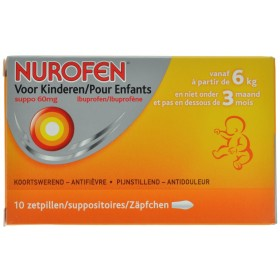 Nurofen Enfant 60mg Suppo 10 X 60 Mg