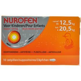 Nurofen Enfant 125mg Suppo 10 X 125 Mg