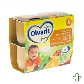 Olvarit Fruit Coup.pomme-orange-banan 4-36m 4x100