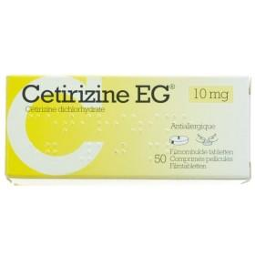Cetirizine Eg Comp 50 X 10mg