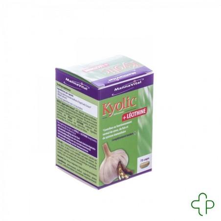 MannaVital Kyolic + Lecithine Capsules 75