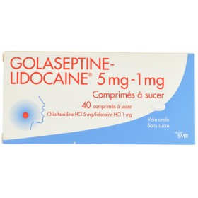 Golaseptine Lidocaine Comprimés a Sucer 40