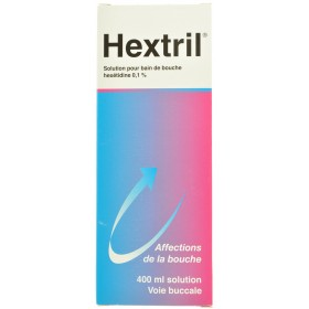 Hextril Bain de Bouche 400ml Hexétidine 01 %